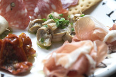 Antipasti plate Stock Photos