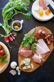 Antipasti plate Stock Photography