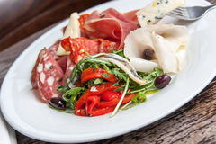 Antipasti plate Stock Photo