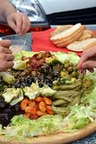 Antipasti plate Royalty Free Stock Photos