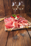 Antipasti Platter of Cured Meat Royalty Free Stock Photos