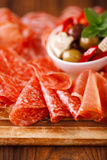 Antipasti Platter of Cured Meat Stock Image