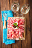Antipasti Platter of Cured Meat Stock Photography