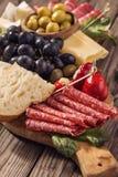 Antipasti snacks closeup Stock Photo