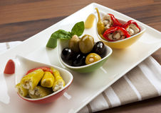 Antipasti variety Royalty Free Stock Photography