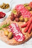 Antipasto σαλαμιού Στοκ Εικόνες