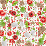 Antipasto background (on white) Royalty Free Stock Photos