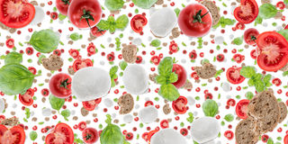Antipasto background (on white) Royalty Free Stock Images