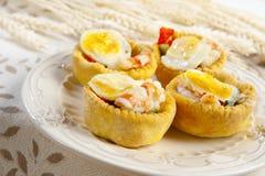 Antipasto bedriegt uova Di quaglia Stock Afbeeldingen