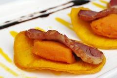 Antipasto: Carne dell'anatra immagine stock