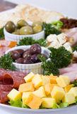 Antipasto catering platter Stock Images