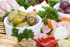 Antipasto catering platter Royalty Free Stock Photo