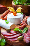 Antipasto catering platter Stock Photo