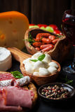 Antipasto and catering platter Royalty Free Stock Photo