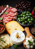 Antipasto and catering platter Stock Photography