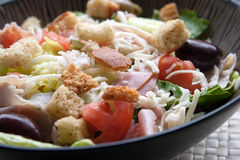 Antipasto-Chef-Salat Lizenzfreie Stockfotografie