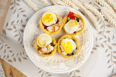 Antipasto con uova Di quaglia Στοκ εικόνα με δικαίωμα ελεύθερης χρήσης