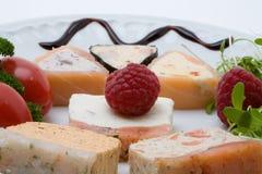 Antipasto crema di color salmone decorato Fotografia Stock