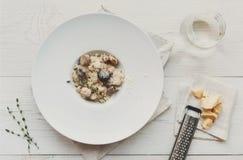 Antipasto de plateau de restauration avec le prosciutto et le mozzarella Images stock
