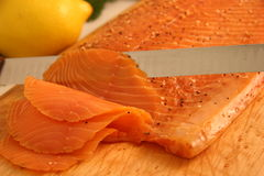 Antipasto dei salmoni affumicati fotografia stock