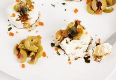 Antipasto del formaggio di capra Fotografie Stock Libere da Diritti