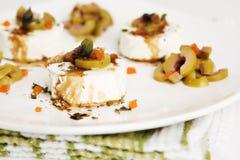 Antipasto del formaggio di capra Fotografie Stock