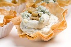 Antipasto della noce e del formaggio blu Fotografia Stock