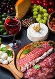 Antipasto dinner platter Stock Photography