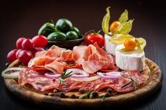 Antipasto dinner platter Stock Image