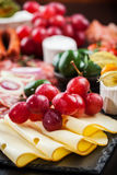 Antipasto dinner platter Royalty Free Stock Images