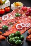 Antipasto dinner platter Stock Photos