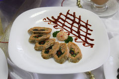 Antipasto freddo dei pesci con le verdure Immagini Stock