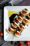 Antipasto Kebobs Royalty Free Stock Photography