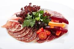 Antipasto met Gesneden Ham royalty-vrije stock foto's