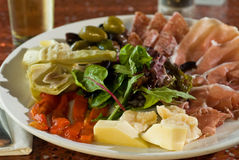 Antipasto misto plate Royalty Free Stock Photos