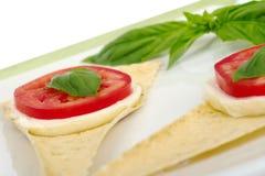 Antipasto: Mozarella, pomodoro, basilico fotografia stock libera da diritti