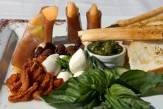 Antipasto Platter Royalty Free Stock Photos