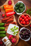 Antipasto platter with raw snack Royalty Free Stock Image