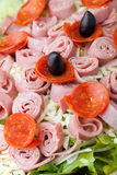 Antipasto Salad Closeup Stock Images