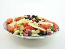 Antipasto salad whole plate Royalty Free Stock Image