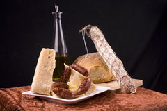 Antipasto on table Royalty Free Stock Photos