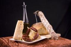 Antipasto on table royalty free stock photos