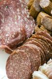 Antipasto; various meats Stock Photos