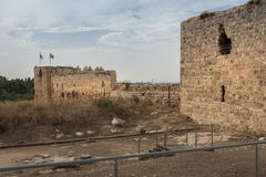 Antipatris Fort at Yarkon National Park Royalty Free Stock Image