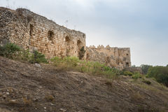 Antipatris Fort at Yarkon National Park Royalty Free Stock Photography