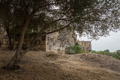 Antipatris Fort at Yarkon National Park Royalty Free Stock Photo
