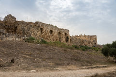 Antipatris Fort at Yarkon National Park Stock Image