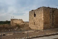 Antipatris Fort at Yarkon National Park Stock Photo