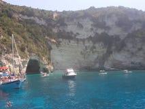 Antipaxos希腊 库存图片