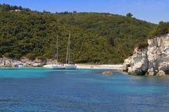 Antipaxos海岛在希腊 免版税库存照片